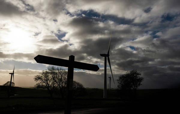 Photograph - Hopton Incline Signpost In Shadow by Scott Lyons