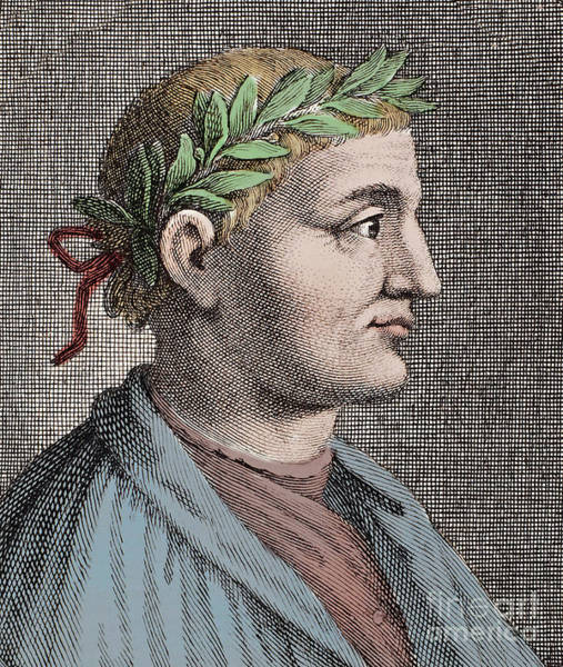 Wall Art - Drawing - Horace, Roman Lyric Poet by Unknown