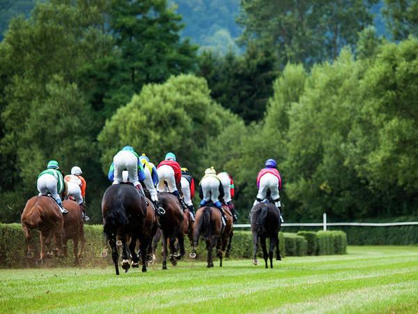 Photograph - Horce Racing 04 by Jorg Becker