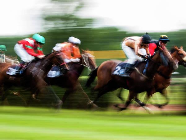 Photograph - Horce Racing 06 by Jorg Becker