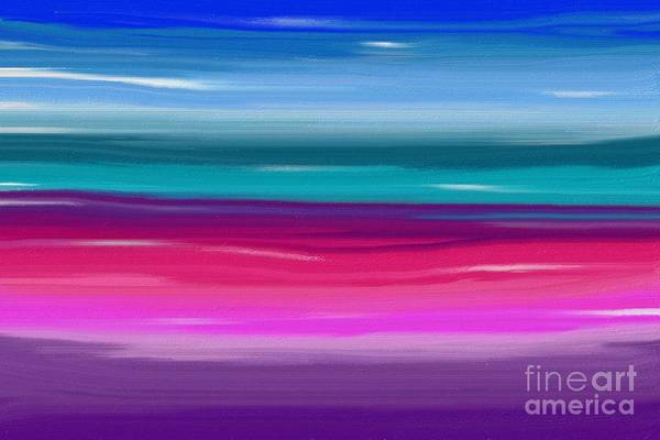 Digital Art - Horizon Abstract by Jenny Revitz Soper