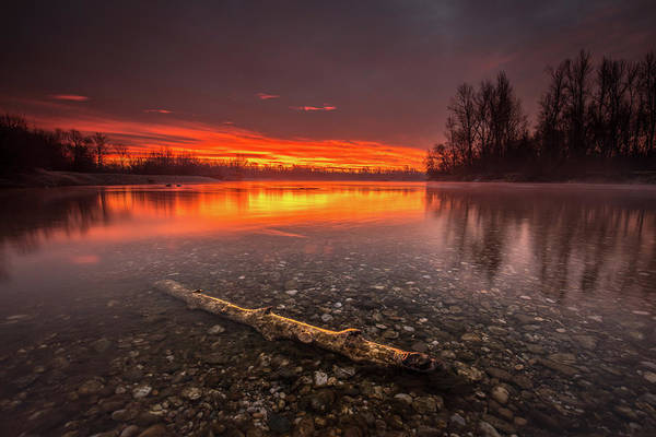Wall Art - Photograph - Horizon On Fire by Davorin Mance