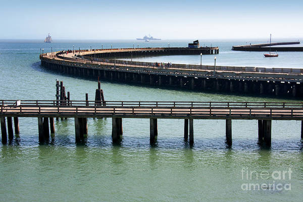 Wall Art - Photograph - Horizontal Shot Of A Pier In San by Martina Roth
