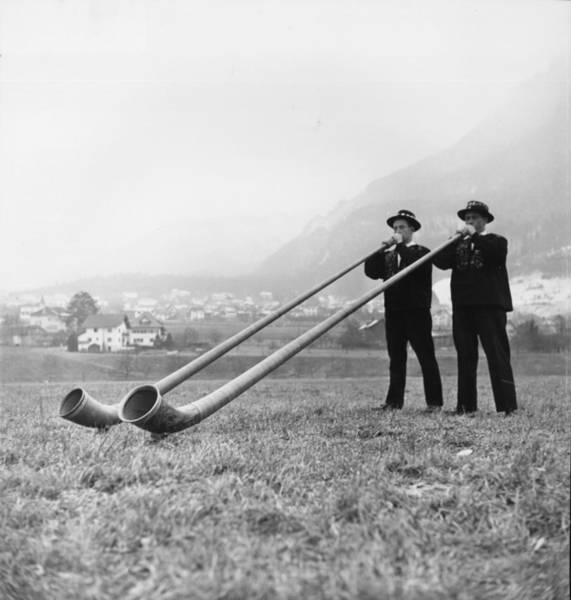 Mountain Lion Photograph - Horn Players by Three Lions