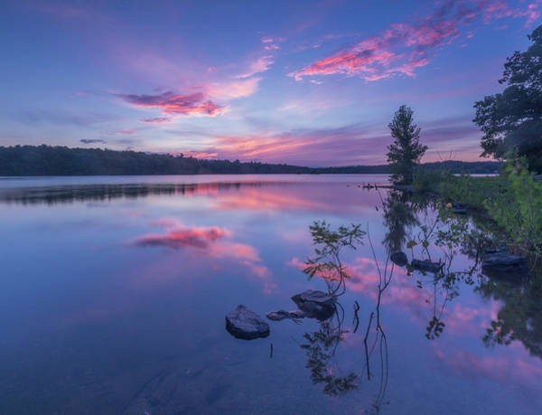 Horn Pond Sunset Art Print