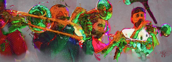 Digital Art - Horn Section by Malcolm L Wiseman III
