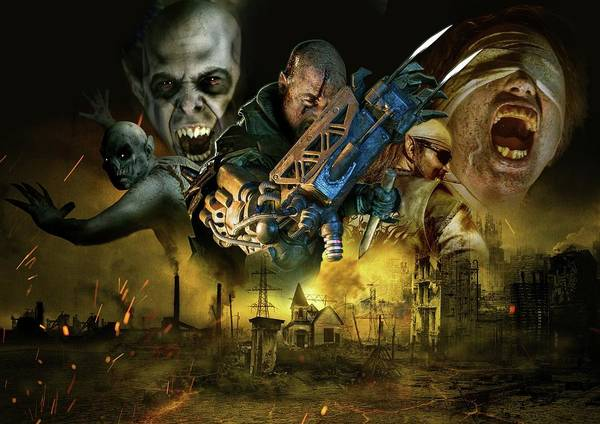Wall Art - Digital Art - Horror Nights - Traumatica by Geek N Rock
