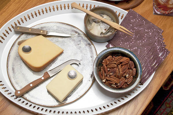 Tray Photograph - Hors Doeuvres Of Cheese, Nuts And by Steve Skjold