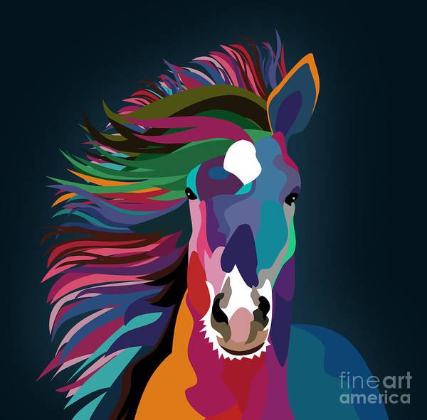 Wall Art - Pyrography - Horse 10 by Mark Ashkenazi