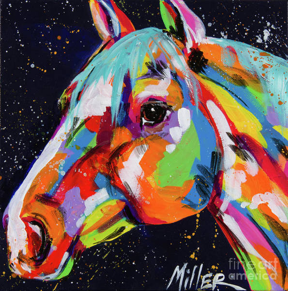 Wall Art - Painting - Horse And Stars by Tracy Miller