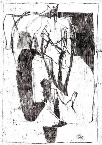 Drawing - Horse Boy by Artist Dot