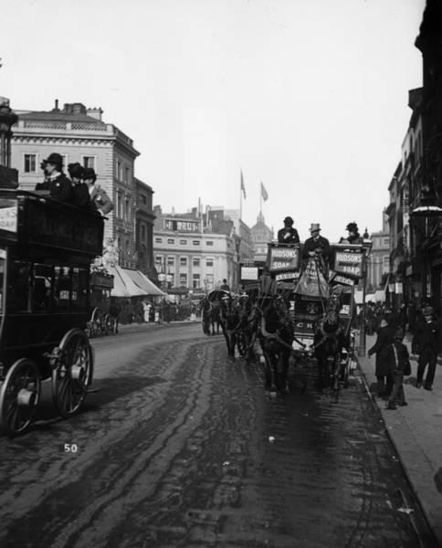Public Land Photograph - Horse Bus by London Stereoscopic Company