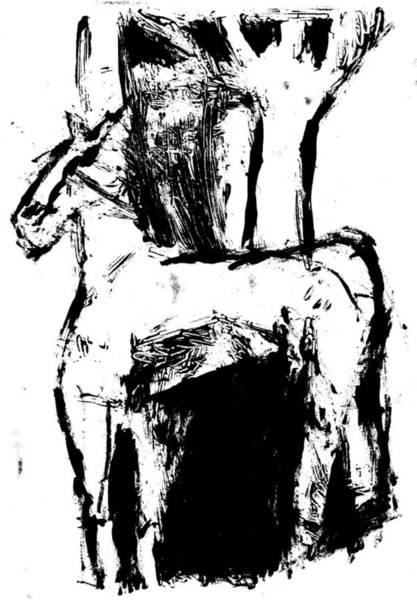 Digital Art - Horse Digitally Whitened Paper by Artist Dot