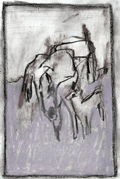 Drawing - Horse In A Field by Artist Dot
