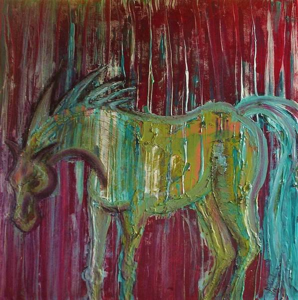 Wall Art - Painting - Horse In The Rain by Joan Stratton