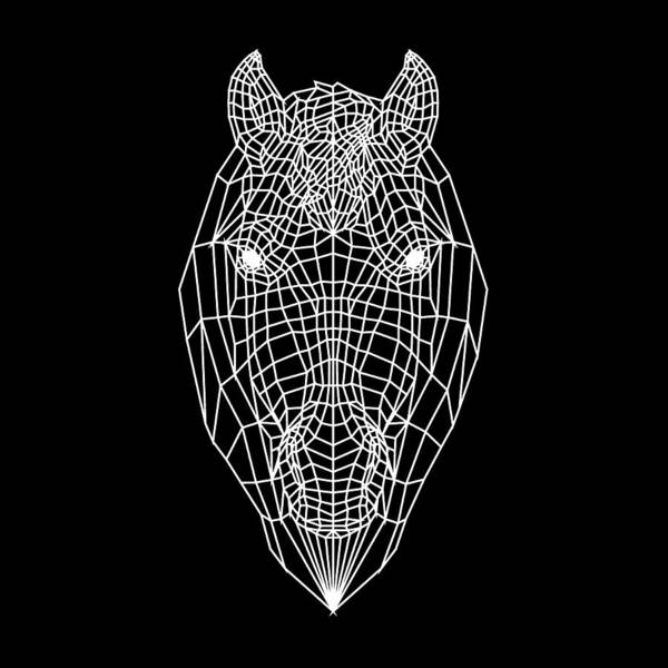 Bobcat Wall Art - Digital Art - Horse Mesh by Naxart Studio