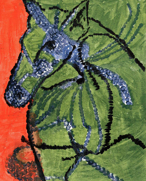 Painting - Horse On Orange And Green by Artist Dot