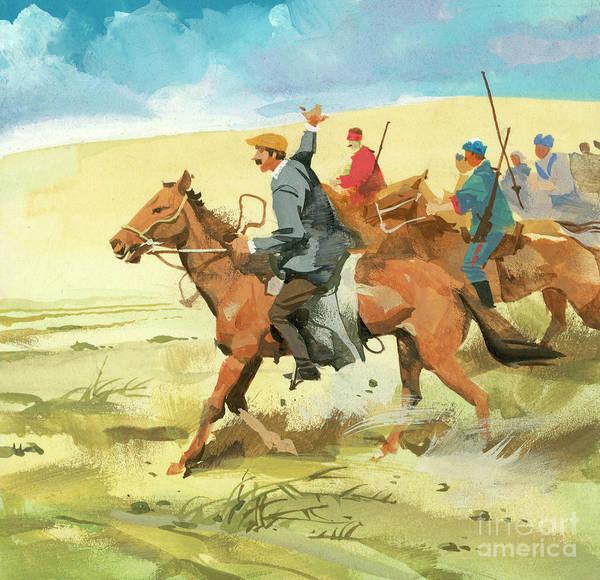 Wall Art - Painting - Horse Riding Scene by Ferdinando Tacconi