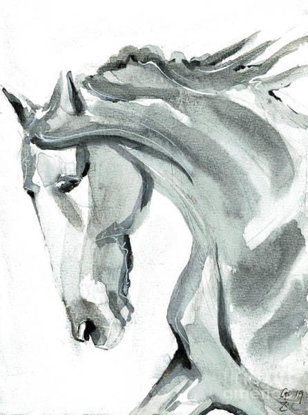 Painting - Horse Silver by Go Van Kampen