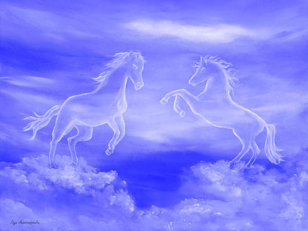 Wall Art - Painting - Horse Spirit Clouds by Faye Anastasopoulou