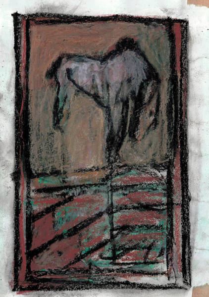 Drawing - Horse Stables by Artist Dot