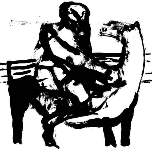 Wall Art - Drawing - Horse Trainer by Artist Dot