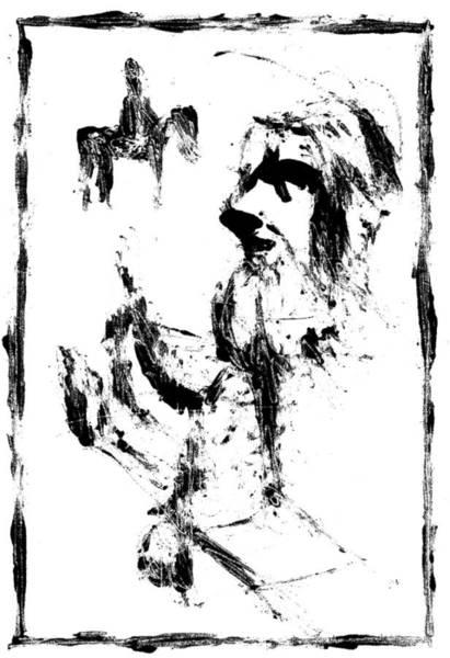 Digital Art - Horsemen Digitally Whitened Paper by Artist Dot