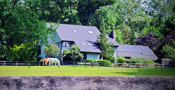 Wall Art - Photograph - Horses And House Pano by Brian Wallace