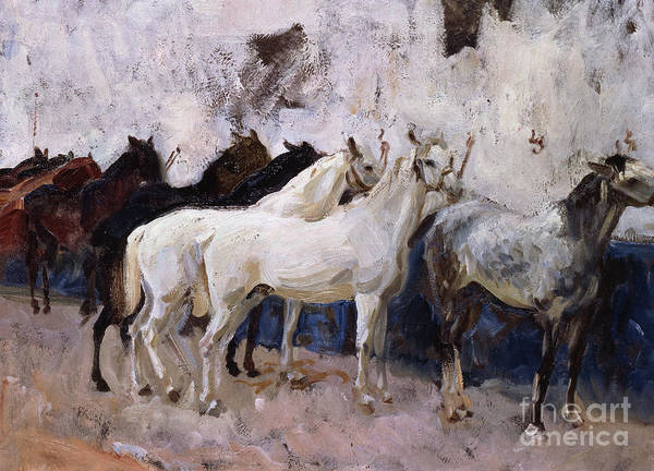 Herd Of Horses Wall Art - Painting - Horses At Palma, Majorca, Spain, 1908 by John Singer Sargent