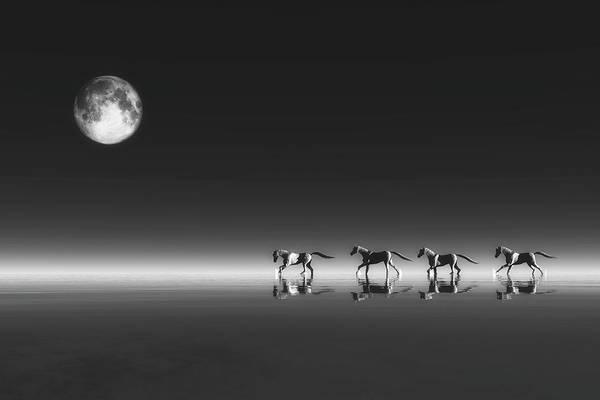 Digital Art - Horses by Jan Keteleer