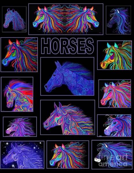Wall Art - Digital Art - Horses Poster by Nick Gustafson