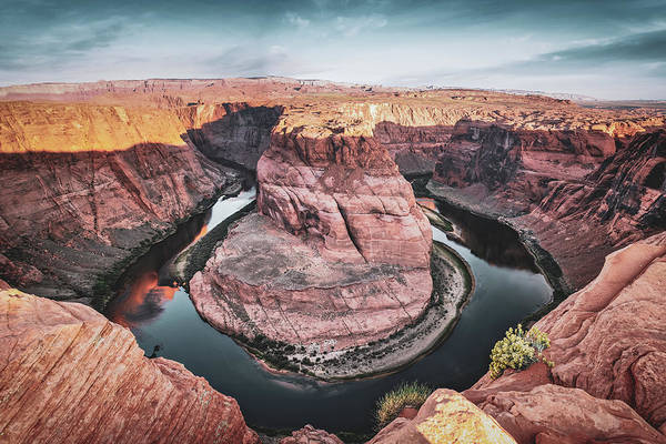 Photograph - Horseshoe Bend Morning Light - Page Arizona Canyon Landscape by Gregory Ballos