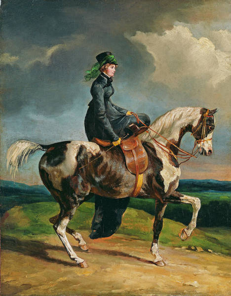 Painting - Horsewoman  by Theodore Gericault