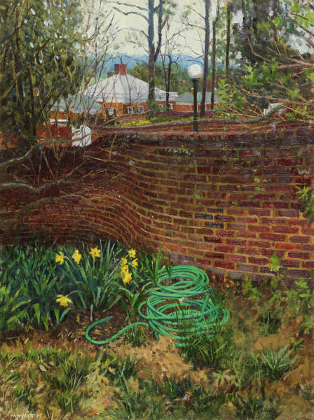Wall Art - Painting - Hose And Daffodils, Garden II, Uva by Edward Thomas