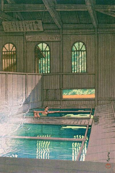 Wall Art - Painting - Hoshionsen - Top Quality Image Edition by Kawase Hasui