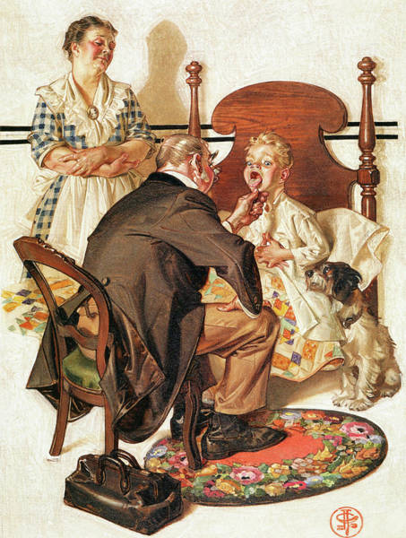 Wall Art - Painting - Hospital Bed - Digital Remastered Edition by Joseph Christian Leyendecker