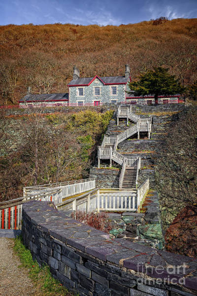 Photograph - Hospital Steps At Llanberis Quarry  by Adrian Evans