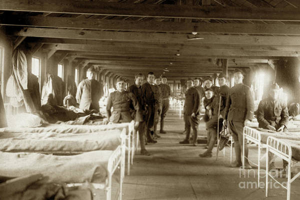 Photograph - Hospital Ward Base Hospital 34  Nantes, France  Circa 1918 by California Views Archives Mr Pat Hathaway Archives