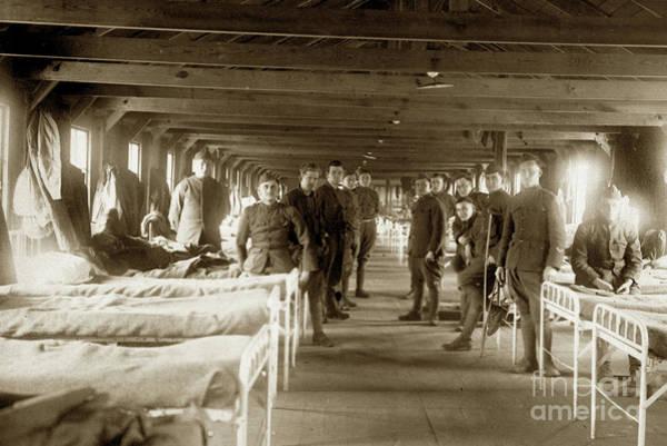 Photograph - Hospital Ward Base Hospital 34  Nantes, France  Circa 1918 by California Views Archives Mr Pat Hathaway Archives