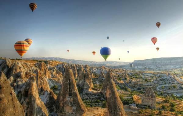 Cappadocia Photograph - Hot-air Balloon Above Cappadocia by Chantal