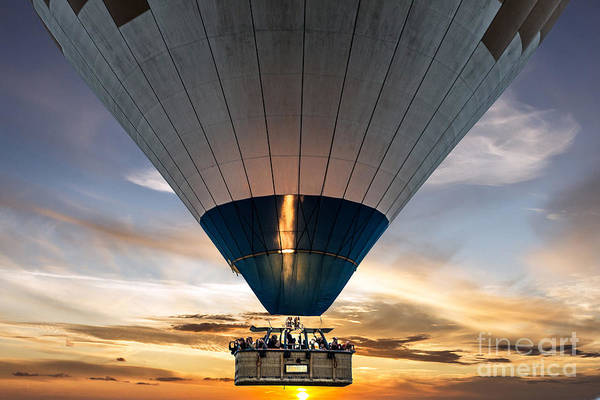 Experience Photograph - Hot Air Balloon In The Sky by Vlada Zhi