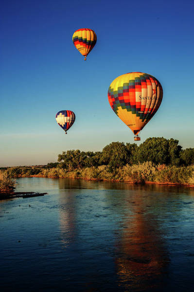 Wall Art - Photograph - Hot Air Balloons Over Ther Rio Grande by James Richardson