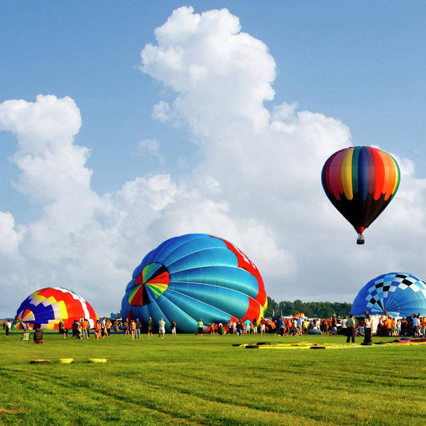 Wall Art - Photograph - Hot Air Balloons Starting The Inflating Sq Format by Thomas Woolworth