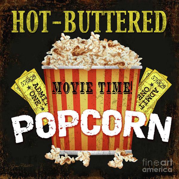 Wall Art - Digital Art - Hot Buttered Popcorn Theater Art by Jean Plout