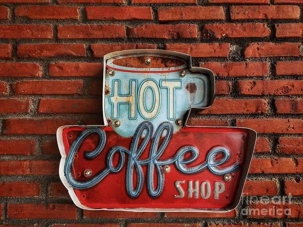 Wall Art - Photograph - Hot Coffee Shop Vintage by 26april