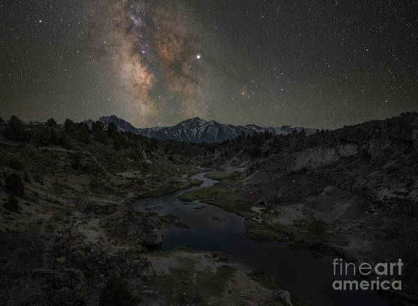 Wall Art - Photograph - Hot Creek Milky Way  by Michael Ver Sprill
