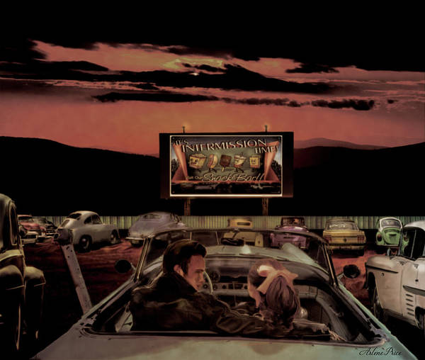 Digital Art - Hot Date At The Drive-in by Arlene Price