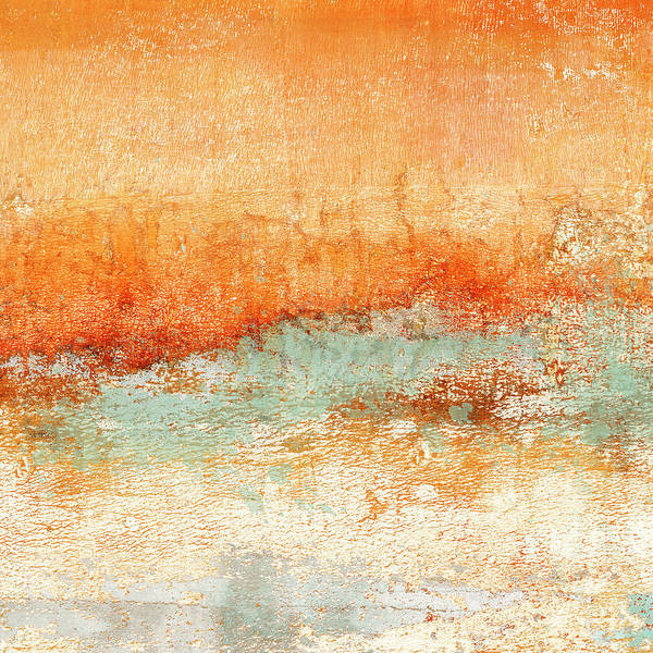 Wall Art - Mixed Media - Hot Days Cool Waters Square Format by Carol Leigh