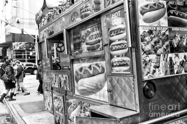Photograph - Hot Dogs On The Corner New York City by John Rizzuto