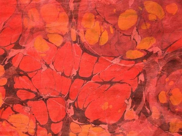 Wall Art - Painting - Hot Lava Marble, Horizontal by Rose Wark